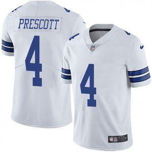 Cowboys Dak Prescott White Jersey